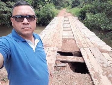 Vereador cobra recuperação emergencial das estradas, pontes e bueiros de Peixoto de Azevedo
