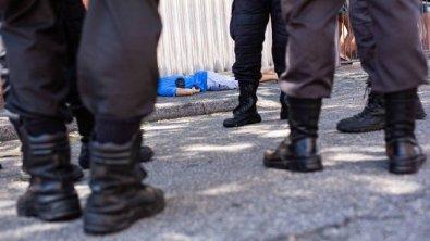 PM reage a assalto; mata ladrão e fere outro num posto em Cuiabá