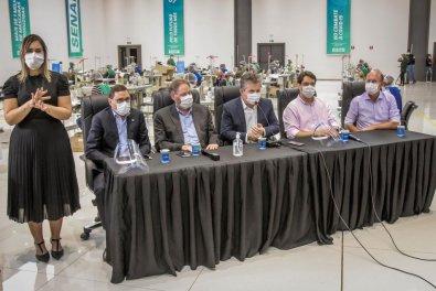 Parceria produz 5 milhões de máscaras em MT