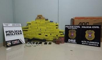 Traficantes são detidos com 50 quilos de maconha e pasta base de cocaína em Alta Floresta