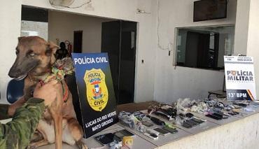 Policiais apreendem drogas e mais de 20 celulares em cadeia de Lucas do Rio Verde